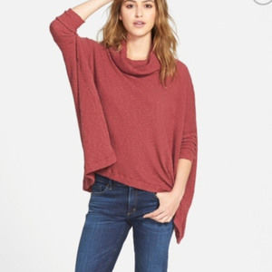Free People World Traveler Cowl Neck Pullover